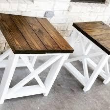 set of custom farmhouse end tables end