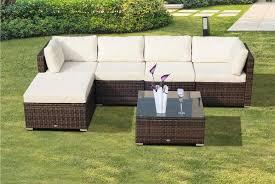 6pc rattan garden set garden deals in