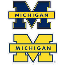 Amazon Com University Of Michigan Vinyl Decal Wall Art Any Size Football Michigan Wolverines Car Bumper Stickers 3 X5 Kitchen Dining