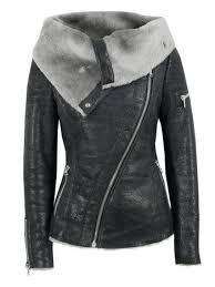arnelle black leather biker jacket с