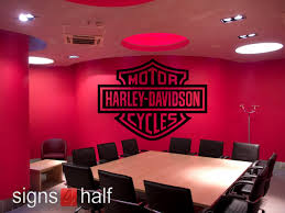 Harley Davidson Removable Wall Decor Vinyl Decal Wall Vinyl Decor Wall Decor Decals Decor