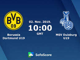 Borussia Dortmund U19 MSV Duisburg U19 live score, video stream and H2H  results - SofaScore
