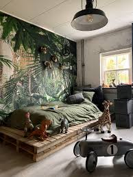 Jungle Wallpaper In 2020 Kids Jungle Room Kids Room Wallpaper Jungle Room