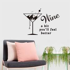 Stickers Wine A Bit You Ll Feel Better Wall Stickers Glass Etch Film Foil Paper Funlife Privacy Film Autocollant Pour Vitre Decorative Films Aliexpress
