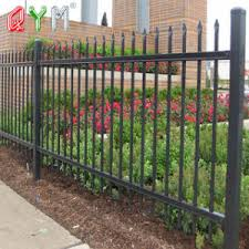 China Metal Garden Fencing Metal Picket Fence Modern Fence Panels China Picket Fence Metal Picket Fence