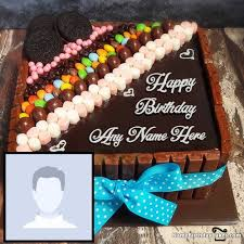happy birthday chocolate cake with