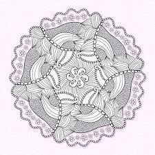 Sier Mandala Cirkel Kant Ornament Patroon Vector Voor Volwassen