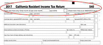california resident ine tax return