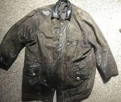mod george arthur dunn leather coat