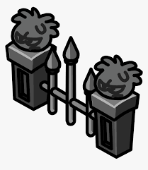 Graveyard Clipart Fence Club Penguin Fence Hd Png Download Kindpng