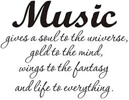 Amazon Com Vosarea Music Gives A Soul To The Universe Inspirational Sticker Living Room Bedroom Quote Wall Decal Home Kitchen