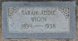 Sarah Addie Wilson Wigen (1899-1938) - Find A Grave Memorial