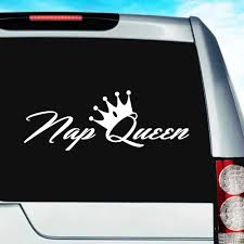 Nap Queen Funny Vinyl Car Window Decal Sticker