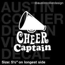 5 5 Cheer Captain Vinyl Decal Car Window Laptop Sticker Cheerleader Squad Ebay