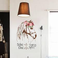 Colorful Horse Removable Vinyl Decal Mural Home Decor Wall Sticker Home Decoration Accessories Wall Stickers Room Decor Childrens Removable Wall Stickers Childrens Wall Decals From Qiqihaercc 45 35 Dhgate Com