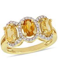 effy collection multi stone ring in 18k