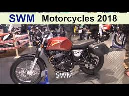 the swm 2018 motorcycles you