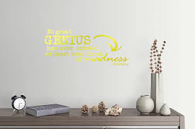 Amazon Com 24 X10 No Great Genius Has Ever Existed Without Some Touch Of Madness Aristotle Wall Decal Sticker Art Mural Home Decor Home Kitchen