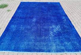 vintage blue turkish rug blue