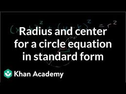 circle from its standard equation