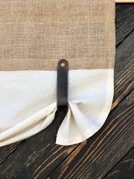 burlap curtains kitchen valance faux