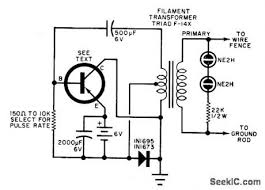 Electric Fence Electric Fence Charger Circuit Diagram