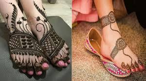 circle mehndi designs for foot