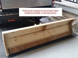 diy homemade wooden snow plow back