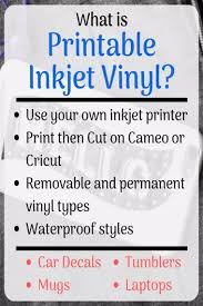 Printable Vinyl What Is It And How Does It Work Personal Die Cutting