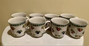 villeroy boch coffee mugs 8 french
