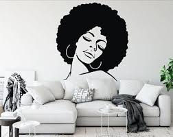 Afro Wall Decal Etsy