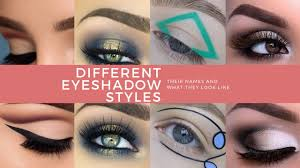 how to do diffe styles of eye makeup