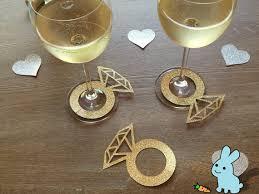 glitter custom wine charms wine tags