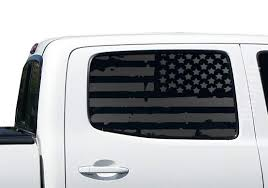 Amazon Com Usa Flag Decals For Toyota Tacoma In Matte Black For Side Windows Fits 2nd Generation 2005 2015 Tp2a Handmade