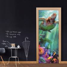 Custom Whole Sheet Sea Turtle Door Wallpaper Stickers For Home Decoration Vinyl Removable Wall Mural 3d Decals Wall Stickers Sale Wall Stickers Tree From Lovercolor 25 12 Dhgate Com