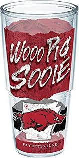 Amazon Com Tervis Arkansas Razorbacks College Statement Insulated Tumbler With Wrap 24 Oz Clear Tumblers Water Glasses
