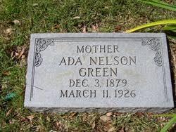 Ada Nelson Green (1879-1926) - Find A Grave Memorial