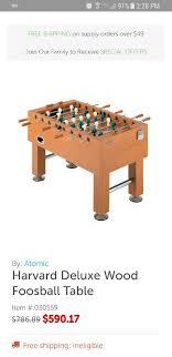 harvard foosball table in good