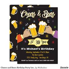 Cheers And Beers Birthday Party Invitation Zazzle Com