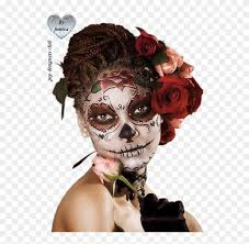 mexican day of dead makeup clipart