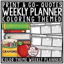 teacher student planner back to school weekly planner