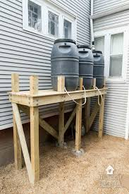 rain barrel stand for multiple rain barrels