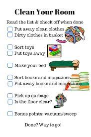 Parenting Checklist Clean Your Room Ruth L Snyder Cleaning Kids Room Cleaning Hacks Bedroom Chores For Kids