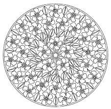 Kleuren Voor Volwassenen Lente Mandala S Mandala Kleurplaten