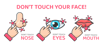 Reminder to Not Touch Face to Prevent Spread of Virus - Download Free Vectors, Clipart Graphics & Vector Art
