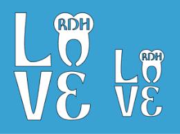 2 Love Rdh Dental Hygiene Decals Vinyl Sticker Car Window Truck Laptop Sticker Ebay