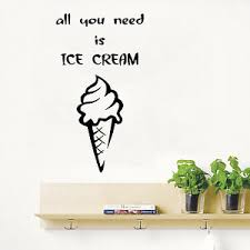 Wall Decals Quote All You Need Is Ice Cream Vinyl Art Design Kitchen Decor Kk341 Ebay