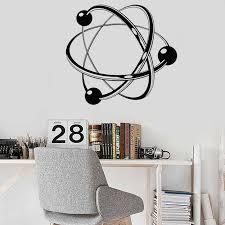 Atomic Science Wall Decal Vinyl Chemistry Atom For Boys Room Living Room Decor Wall Stickers Removable Art Home Wallpaper Y9 Wall Stickers Aliexpress