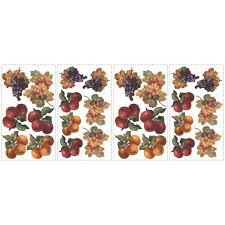 Fruit Harvest Wall Stickers 26 Colorful Decals Apples Grapes Kitchen Decor Walmart Com Walmart Com