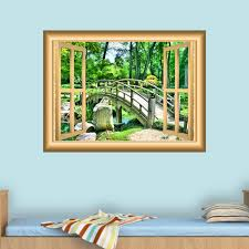 East Urban Home 3d Forest Wall Cling Scenic Wall Decal Wayfair